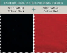 Load image into Gallery viewer, Safe snood - Black & Red (2 in a pack)