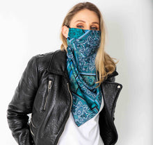 Load image into Gallery viewer, Scarf mask - Teal
