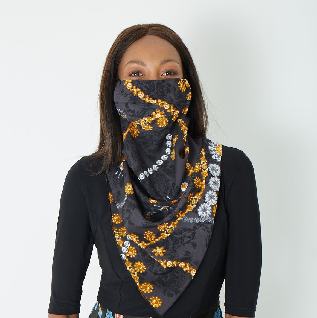 Scarf mask - Gold