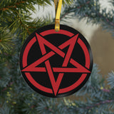 Satanic Glass Ornament