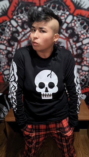 Lars Skull Long-Sleeve Tee (Glow-in-dark)