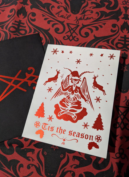 Tis the Season to be satanic greeting cards