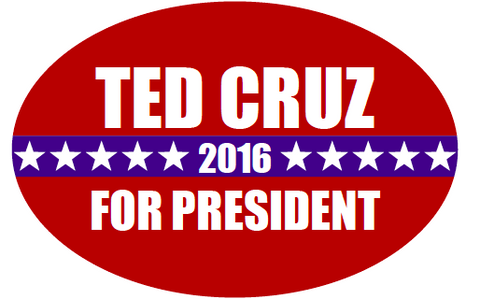 Ted Cruz 2016 Presidential Oval Sticker
