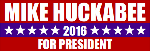 Mike Huckabee 2016 Presidential Rectangle Sticker
