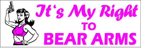 It's My Right To Bear Arms Sticker