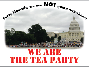 We Are The Tea Party Sticker