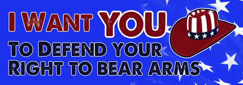 I Want You To Defend Your Right To Bear Arms Sticker