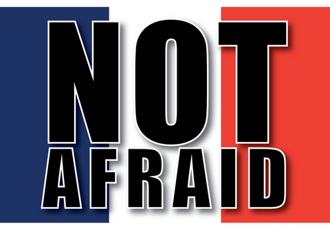Not Afraid Solidarity With France Sticker