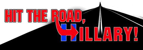 Hit The Road Hillary Sticker