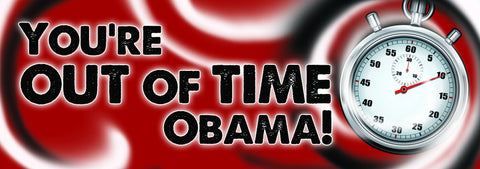 You're out of time, Obama! Sticker
