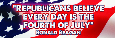 Republicans Believe Every Day Is The Fourth Of July Sticker