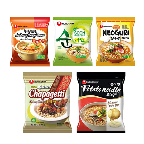 Nongshim Noodle istantanei pack medio piccante