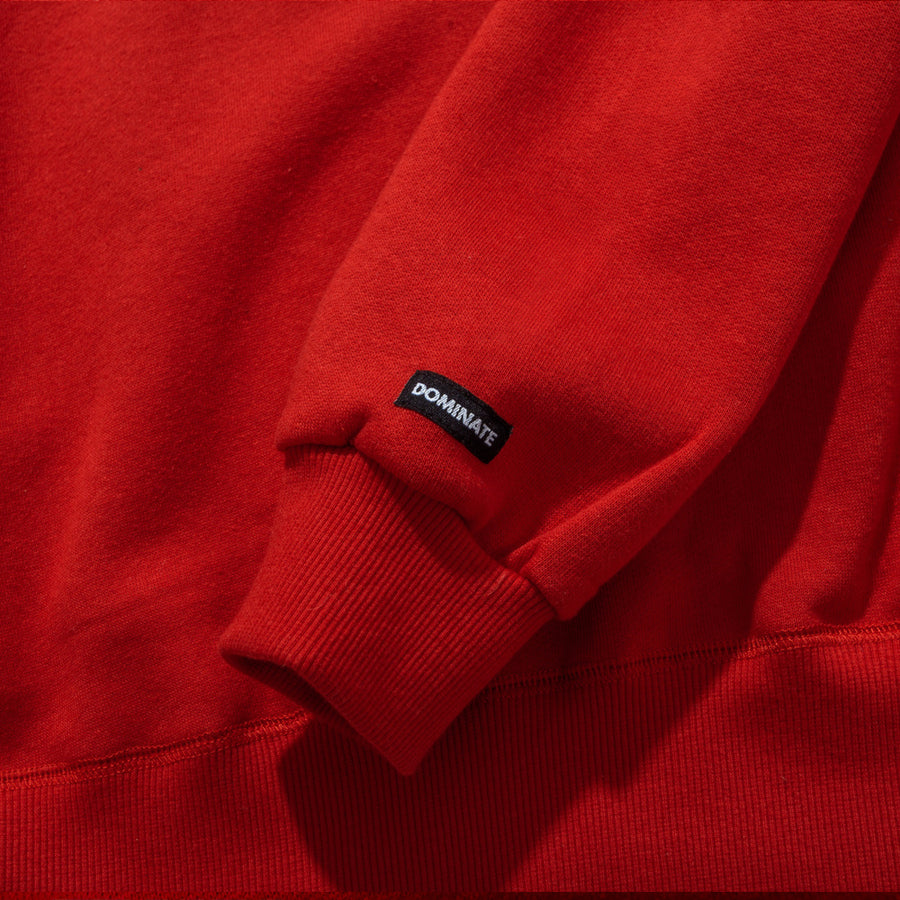 CASBAH CREWNECK CHERRY RED