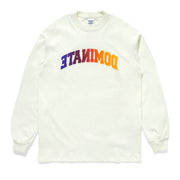 REVERSE GRADIENT ARC LS TEE BROKEN WHITE