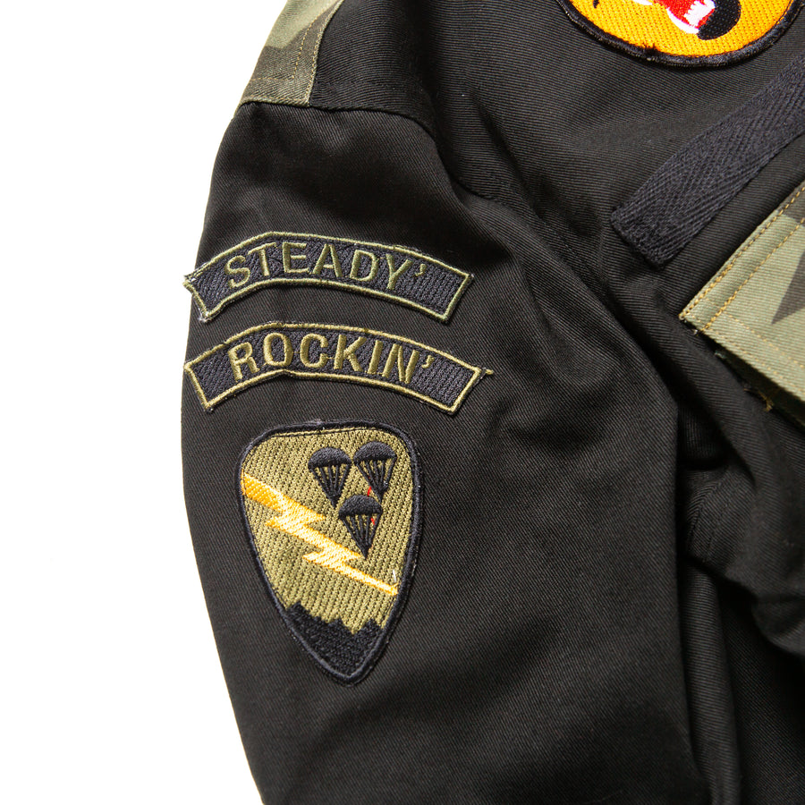 CRAZY BDU JACKET BLACK / OLIVE