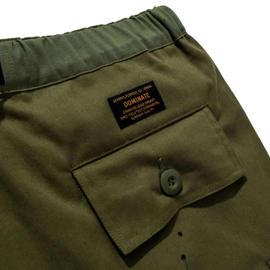 MISSMATCH CARGO SHORT OLIVE