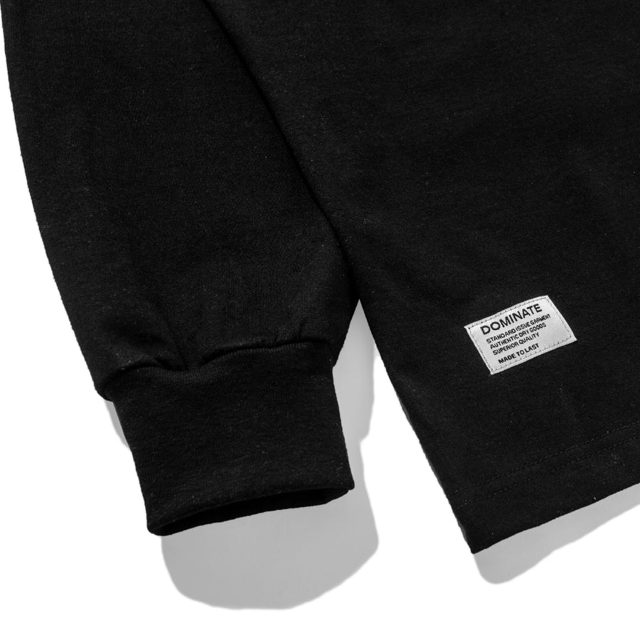 OVER ARC LS TEE BLACK
