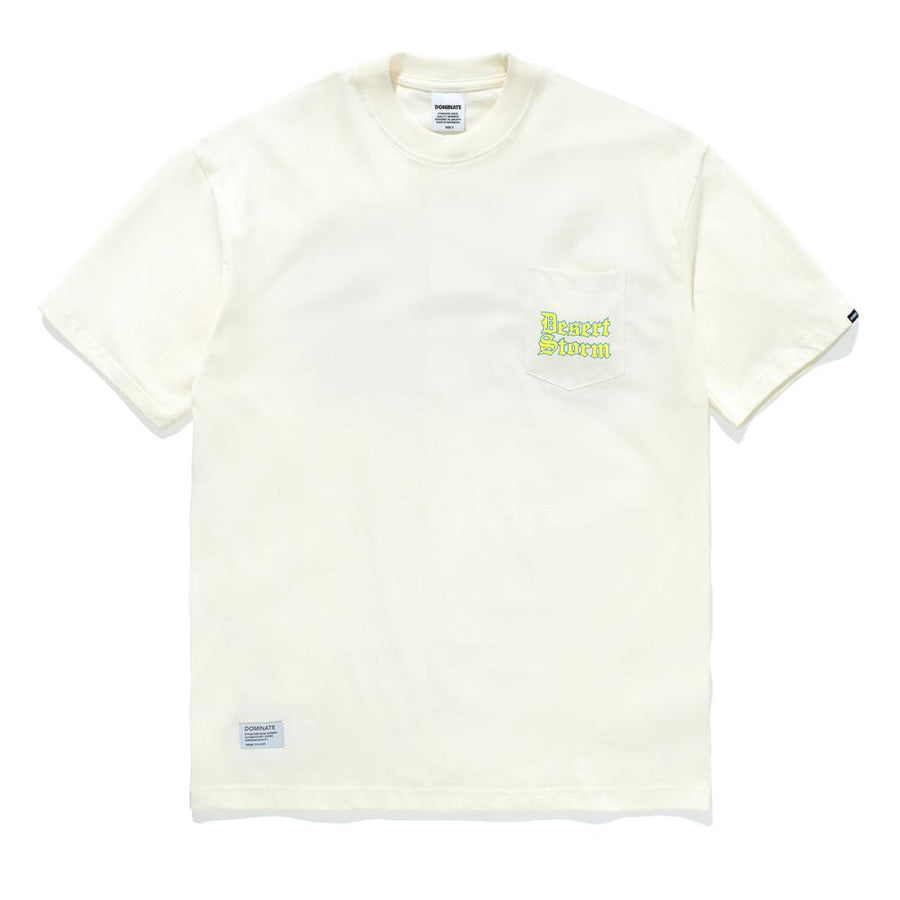 CASBAH POCKET TEE BROKEN WHITE