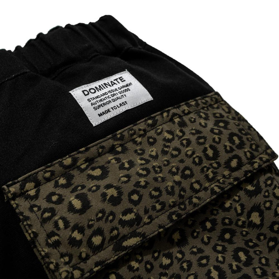 MISMATCH SHORTS LEOPARD BLACK