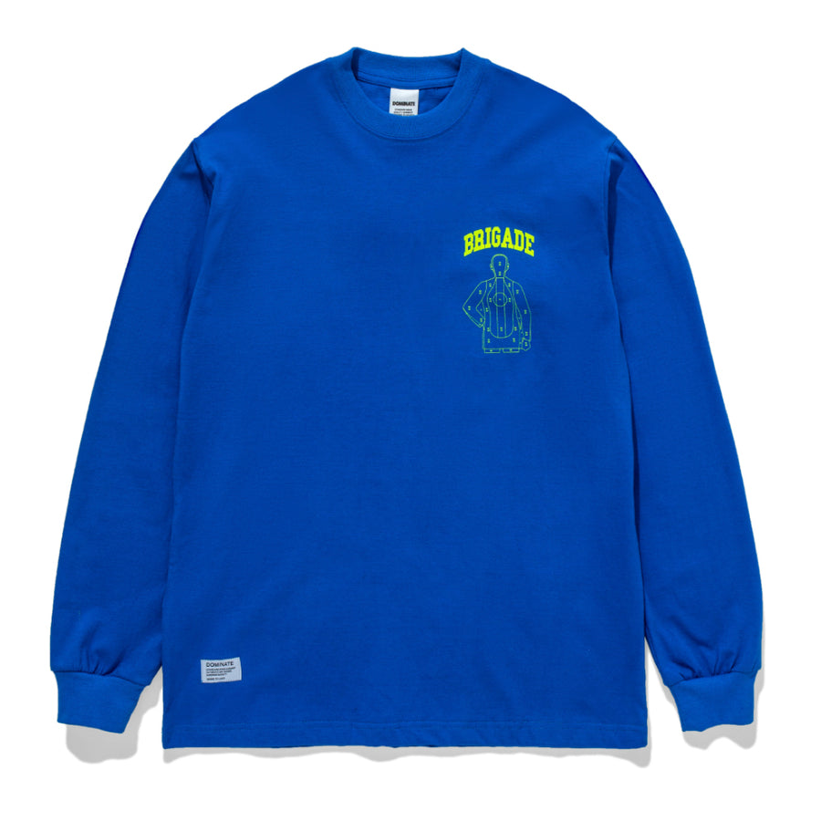 OVER ARC LS TEE BLUE