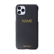 Load image into Gallery viewer, Monogrammed Leather iPhone Case - Pebble Grain