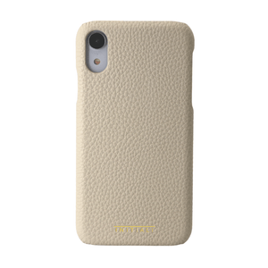 Monogrammed Leather iPhone Case - Pebble Grain