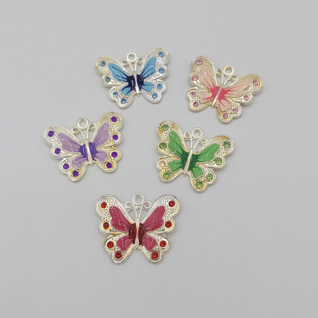 Stay Close - Butterfly Charm