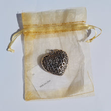 Load image into Gallery viewer, Stay Close - Silver Filigree Heart