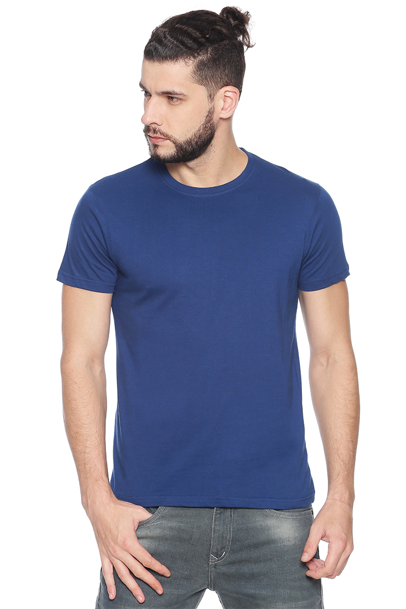 Navy Blue Organic Crew Neck Tee