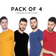 COMBO PACK OF 4 -  HALF SLEEVE (Choose Colors)