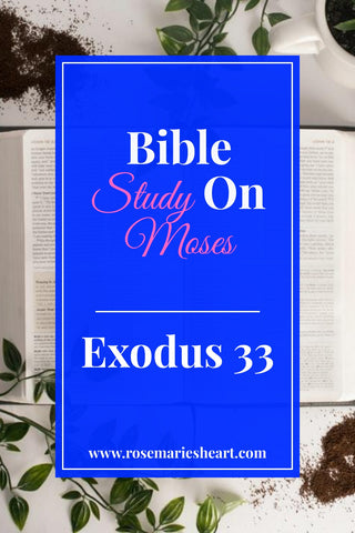 bible study on moses with blue background by rosemaries heart