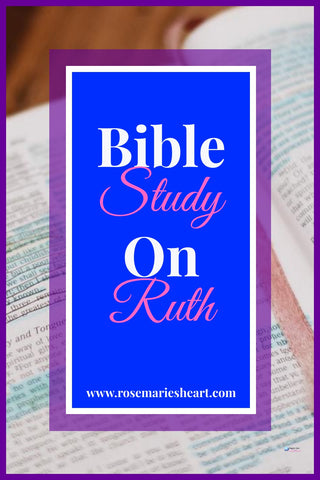 bible study on ruth with pink and blue background by rosemaries heart