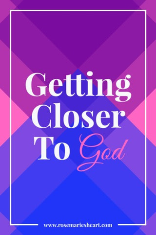 getting closer to god with pink and purple background by rosemaries heart