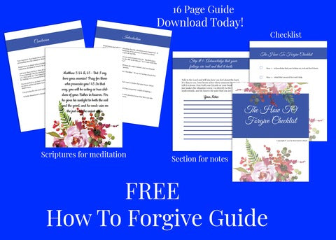 how to forgive checklist by rosemarie's heart