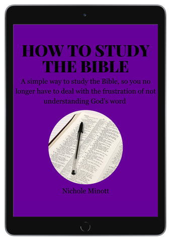 ebook how to study the bible by rosemarie's heart