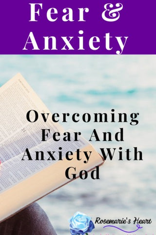 overcoming fear and anxiety with god background of bible and the ocean by rosemaries heart