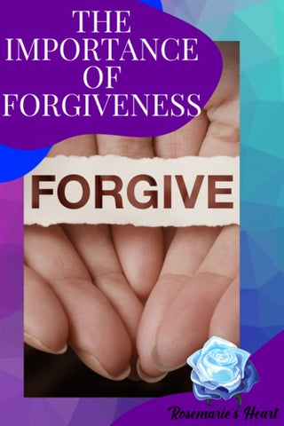 woman with hands open with the word forgive the importance of forgiveness in the bible by rosemarie's heart