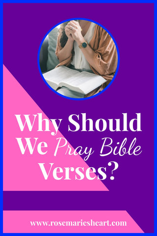 woman praying with pink and purple background why should we pray bible verses by rosemarie's heart