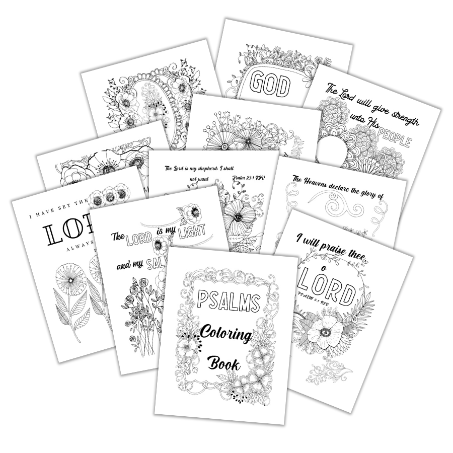 Psalms Scripture Coloring Pages