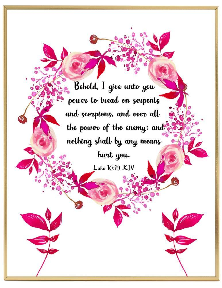Luke 10 KJV Scripture Wall Art