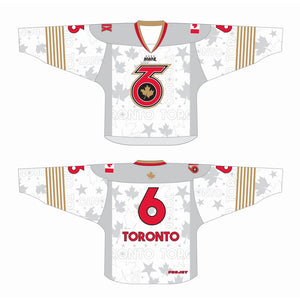 "WHITE T6 ""TORONTO 6"" Replica Jersey - Adult"