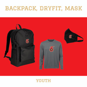 Retro Backpack & Dry-fit Tee Pack - Youth