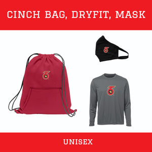 Cinch Bag & Dry-fit Tee Pack - Unisex