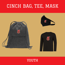 Load image into Gallery viewer, Cinch Bag & T-shirt Pack - Youth