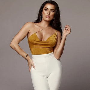 Bodycon Sexy Bodysuit women Solid