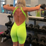 Ladies Stretchy Yoga set Women Bandage Gym Clothing Sport suit Casual Rompers Fitness Workout Playsuit backless sport wear