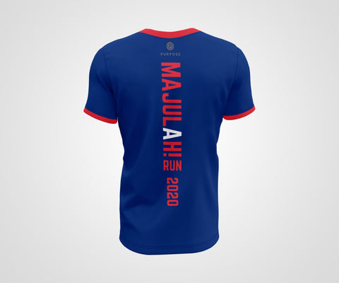 Majulah Run Solidarity Challenge Race Tee Back