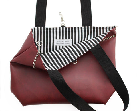 CabSauv vegan leather tote