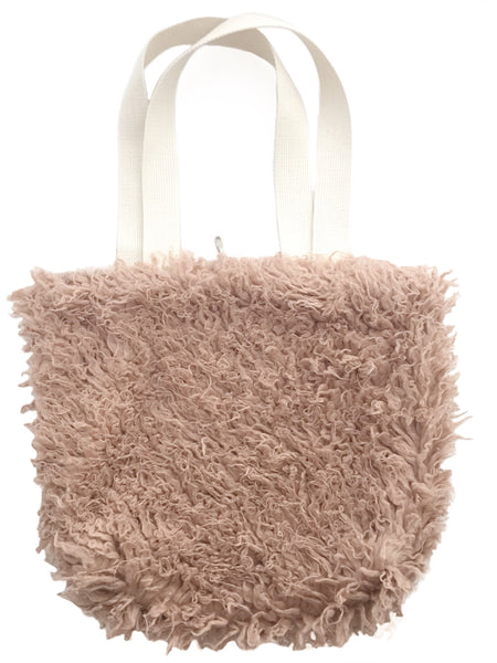 Dusty pink faux fur tote – Missy May Bags a594f16878386
