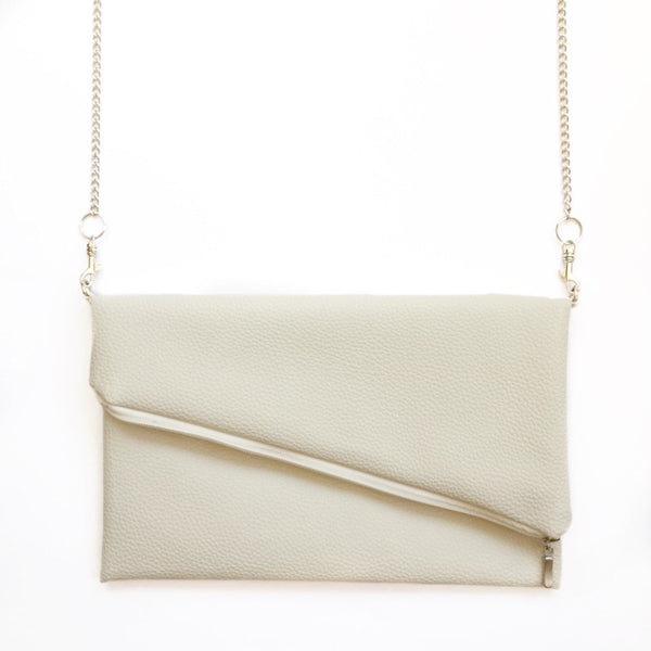 Natural vegan leather crossbody